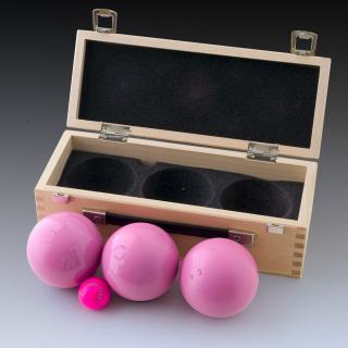 Boule de p tanque rofristsch boule rose prestige carbone for Boule de petanque tres tendre